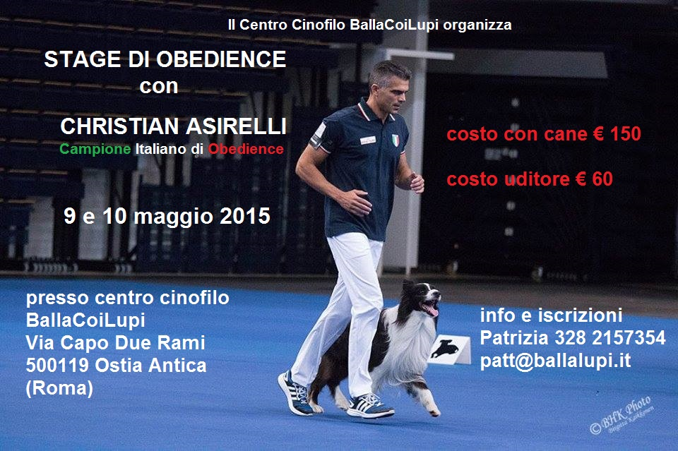 Stage di Obedience